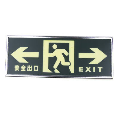Running Man Arrow Exit Sign - Safety Notice Warning Danger Evacuation Sign
