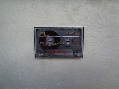 Vintage Audio Cassette EMTEC FE I 60 * Rare From 1995 * Unsealed