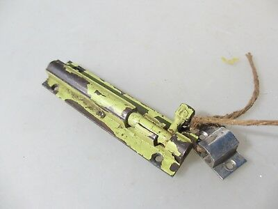 "Vintage Brass Door Lock Bolt Bathroom Lock WC Toilet Old Antique Keep  4.5""L"