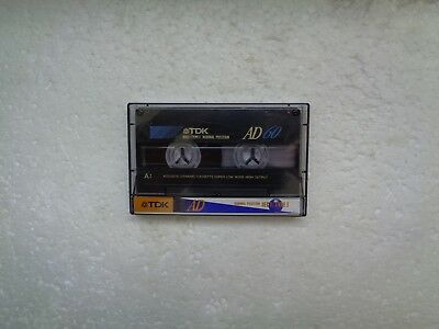 Vintage Audio Cassette TDK AD 60 From 1994 - Fantastic Condition !!