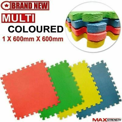 EVA Puzzle Mats Interlocking Soft Floor Foam kids play Nursery Gym Exercise 12mm