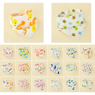 Newborn Baby Boy Girl Cotton Bibs Saliva Towel Burp Cloth Apron Bandana Scarf