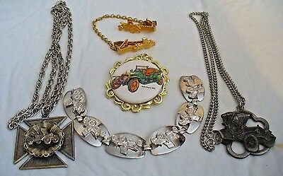 Lot Of Antique Car Jewelry...5 Misc. Pieces For One Money...price Reduced