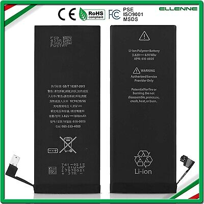 BATTERIA PER APPLE IPHONE 6 1810 mAh ZERO CICLI ORIGINALE NUOVA