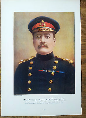 Print Major General Eth Hutton Cb Adc Commanding First Mounted Infantry Boer War