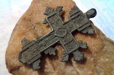 "RARE 16-18th CENTURY LARGE ""OLD BELIEVERS"" ORTHODOX ORNATE ""SPROUTED"" CROSS"