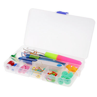 80pcs Knitting Crochet Sewing Accessories Supplies Tool Kit w/ Storage Case