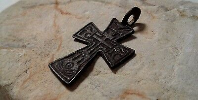 "ANTIQUE 19th CENTURY EASTERN CATHOLIC or ORTHODOX CROSS PATTEE ""IRON"" ORNAMENTAL"