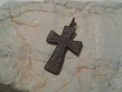 "ANTIQUE 19th CENTURY EASTERN CATHOLIC or ORTHODOX ""SKULL"" CROSS PATTEE ""IRON"""