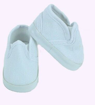 """Red Canvas Slip On Shoes Fits 18/"""" American Boy or Girl Doll Clothes Shoes"""