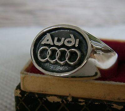 Ring with AUDI  LOGO  SILVER * 925 *