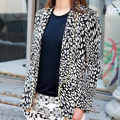 9eb426d5da7 NWT HELENE BERMAN LONDON Leo Printed Jacket Blazer Made in England Size XS   219