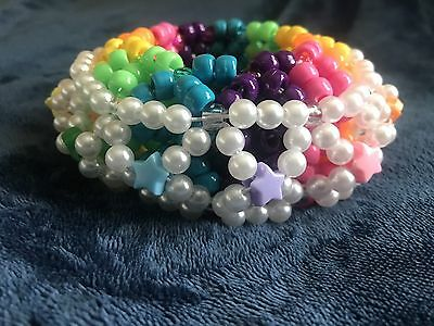 Royal Rainbow 3D Kandi Cuff EDM, Raves, EDC, Ultra