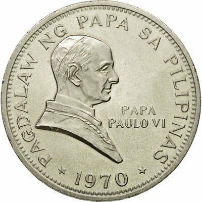[#433600] Coin, Philippines, Piso, 1970, MS(60-62), Nickel, KM:202