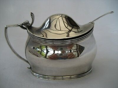 GEORGE III SOLID SILVER MUSTARD POT - Peter, Ann & William Bateman, 1804