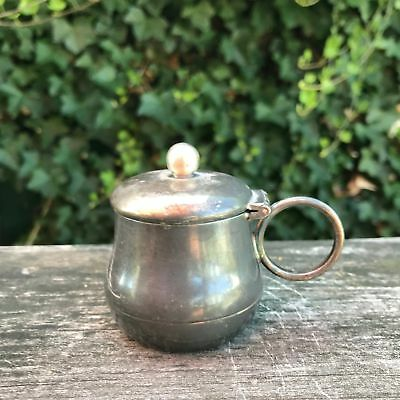 """Vintage Antique Mustard Pot Albany Triple Silver Plate  Co. 2.5"""" High"""