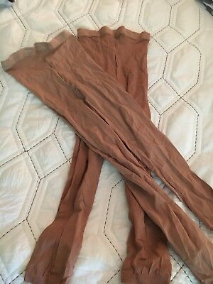 Lot Of 2 Capezio Footless Tight  Convertible Tight Tan Size MED & Adult Short