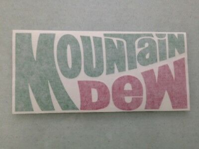 Mountain Dew - Vinyl Sticker - In Green & Red - New