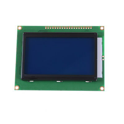 St7920 12864 128x64 lcd display blue backlight parallel serial arduino 5v MW