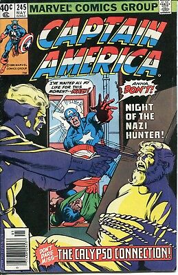 Comic book: CAPTAIN AMERICA #245 May 1980 good condition