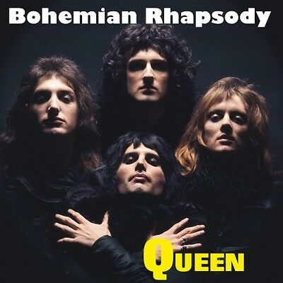 "Bohemian Rhapsody Queen Poster Music Album Cover Art Print 12x12"" 18x18"" 24x24"""