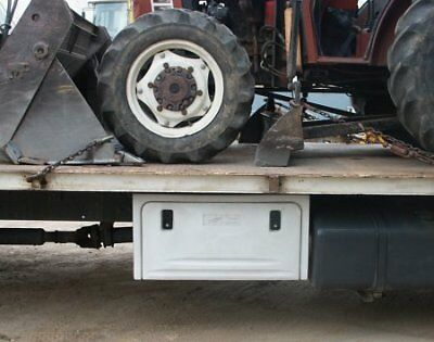 White Truck Tool Box Underbody For Ropes Straps Chains Semi Trailers New