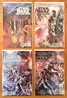 NEW UNREAD SHATTERED EMPIRE COMPLETE ISSUES 1-4 MARVEL STAR WARS COMICS 1st PRT