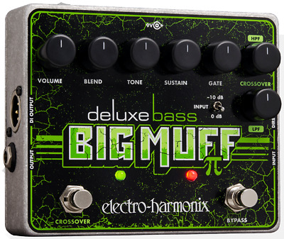 EHX Electro-Harmonix Deluxe Bass Big Muff Pi Distortion Guitar Effects Pedal