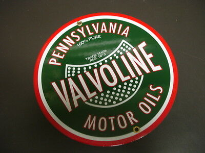 Valv oline Gas Oil Porcelain advertising Sign