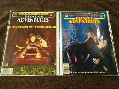 Rare 1982 MARVEL Magazine Group BIZARRE ADVENTURES #29 Lawnmower Man #33 Dracula