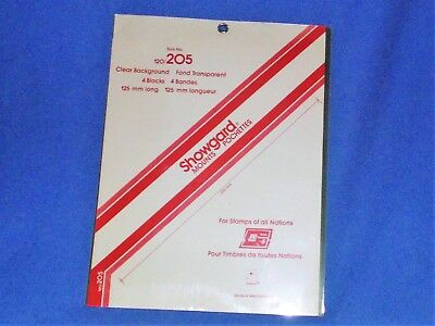 Showgard  Mounts Pochettes One Pack Clear Background Size No. 120/205