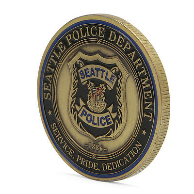 Saint Michael Seattle Police Department Commemorative Challenge Collection Coin