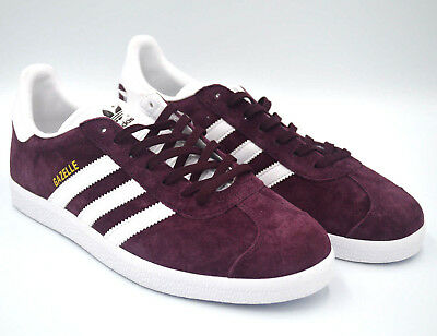 differently cd6fa 6d416 Adidas Originals Gazelle Maroon Red White Sneakers Suede Shoes BB5255 Multi  Size