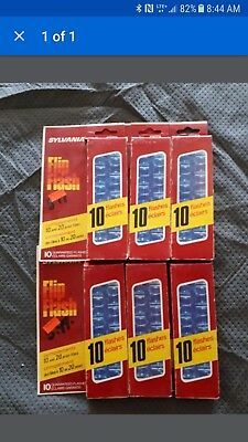 New Old Stock Sylvania Camera Flip Flash 10 × 6