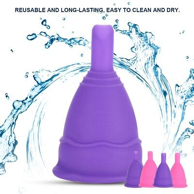 Reusable Silicone Menstrual Cup Period Soft Medical Cups Feminine Cup S/L