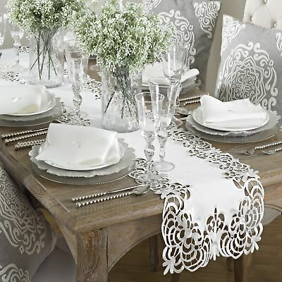 Table Napkin Set Cloth Dining Linen Square Setting Embroidered Design 8 Piece