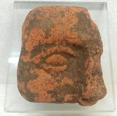 Ancient Greek Terracotta Clay Face Fragment 2nd Cent BC or Before Museum Quality
