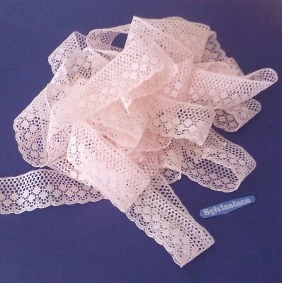 15   metres   of  Pink  Light  weight     Flat   Lace   3 cm wide