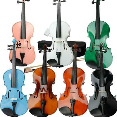 """15""""/16"""" Student Beginner Acoustic Viola Set w/ Case + Rosin + Bow High Quality"""