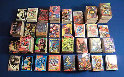 Lot of 180 Marvel Comic Book Cards! Masterpieces, Universe, X-Men, Spider-Man