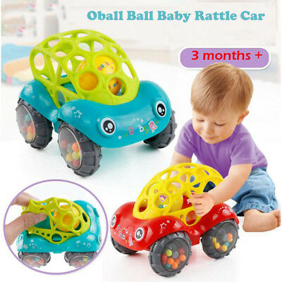 Baby Toy Inertial Minibus Oball Ball Rattle Cars Roll New Game Fun to Play AU