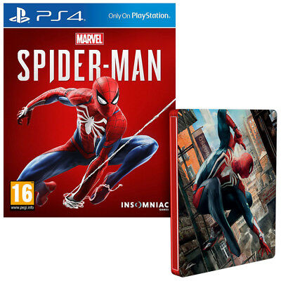 Marvel's Spider-Man + FREE Steelbook (PS4) BRAND NEW AND SEALED - QUICK DISPATCH