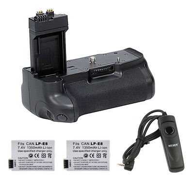 Neewer Vertical Battery Grip Replacement for BG-E8 for Canon Rebel T2i T3i