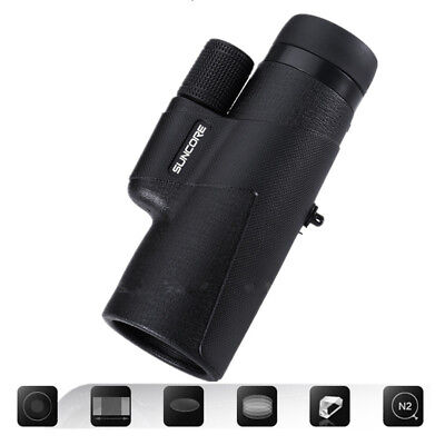 Waterproof Monocular Scope 10x42 High Power Telescope Nitrogen Filled BAK4 Prism