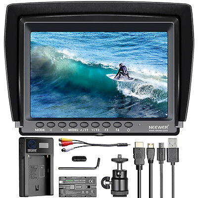 Neewer F100 7-inch 1280x800 IPS Screen Camera Field Monitor Kit with Battery