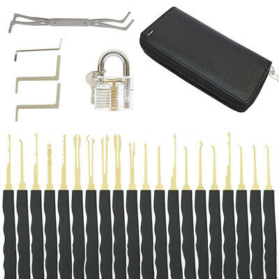 UK 24pcs Key Extractor Locks Kit Training Opening Practice Tool Pick Needles ILC