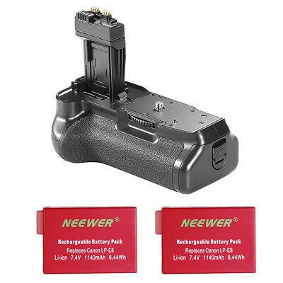 Neewer Battery Grip with 2pcs Li-ion Battery Replacement for BG-E8