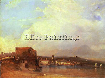 Bonington Richard Parkes Lake Lugano Artist Painting Oil Canvas Repro Art Deco