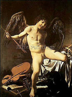 Caravaggio Ggio Amor Artist Painting Reproduction Handmade Oil Canvas Repro Deco