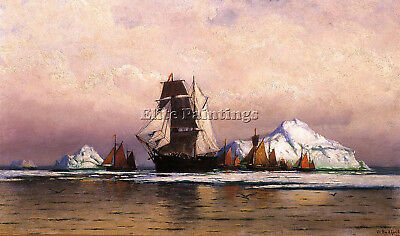 Bradford William Fishing Fleet Labrador2 Artist Painting Oil Canvas Repro Art